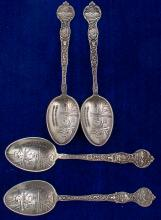 Set of Four Matching Butte Mining Spoons