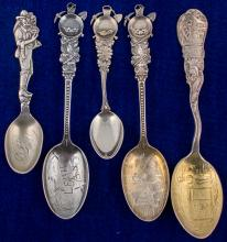 Five Lead Mining Spoons