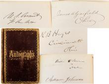 Fabulous Civil War Ear Congressional / Cabinet Autograph Book