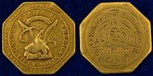 Gold Rush Engraved USAO Gold $50 Slug