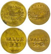 Carter, Ft. Bridger Post Trader, 50 cents & $1 Tokens (Wyoming)
