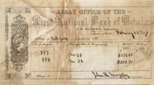 Very Rare Assay Receipt for First National Bank of Nevada