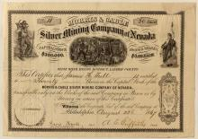 Morris & Cable Silver Mining Co. Stock Certificate