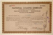National Leasing Company Stock (Issued to G.G. Rice)