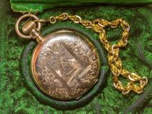Barret & Sherwood Gold Pocket Watch