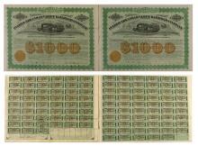 Pueblo and Arkansas Valley Railroad Co. Bonds (Specimen & Issued)