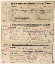 Oregon Railroad Checks