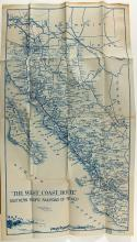 Map of Southern Pacific Railroad in Mexico