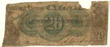 Banking House C.A. Cook & Co. 20 cent Scrip (Territorial)