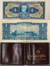 Brazilian Currency Note w/ Original Wallet