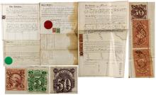 Three Nevada Revenue Stamp Documents (Douglas, Lander, and Ormsby Counties)