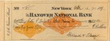 Hanover National Bank Check w/ Facsimile RN and RN-X