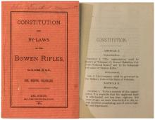 Constitution and By-Laws of the Bowen Rifles