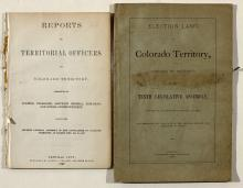 Colorado Territory Political pamphlets