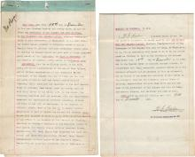 Property Deed for the King of Italy w/ Auto. of Minister/War Hero/Mining Engineer
