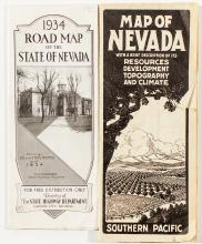 Two Nevada Maps (1914 and 1934)