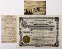 Kennedy Consolidated Gold Mining Company ephemera and stock certificate