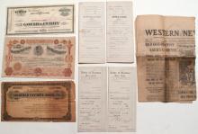 Nevada mining ephemera (7): stock certificates, placer locations