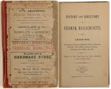 History & Directory of Needham, Mass., 1888-89 (red)