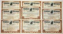 Nicholson File Company Stock Certificates (9)