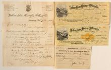 Yellow Aster Mining and Milling Company letter signed by Singleton