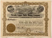Nevada Copper Butte Mining Co. Stock Certificate