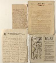 Texas Ephemera Lot of 4 including letters and oil brochure