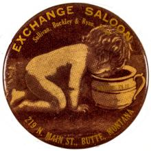 Exchange Saloon Advertising Mirror