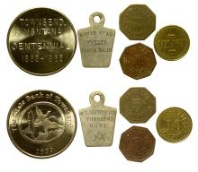 Five Townsend Tokens