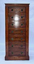 21st CENTURY ANTIQUES A 'MODEL No. 301 THE WELLINGTON IN WALNUT' STEEL-LINED GUN CABINET,