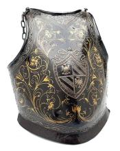 A DECORATED BREAST-PLATE FROM A PARADE ARMOUR,