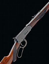 * WINCHESTER REPEATING ARMS, USA, A RARE .38-55 (WIN) LEVER-ACTION REPEATING RIFLE, MODEL '1894 DELUXE', serial no. 590831,