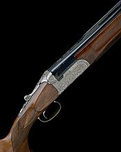 ARMERIA SANGIORGIO A DONALD-ENGRAVED 12-BORE 'SATURNO SPECIAL TRAP' SELECTIVE SINGLE-TRIGGER OVER AND UNDER EJECTOR, serial no. 03030