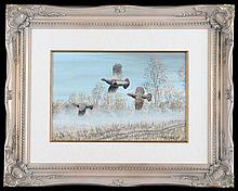 MARK CHESTER (F.W.A.S.) 'AUTUMN MIST - ENGLISH PARTRIDGES' AND 'AUTUMN MIST - RED LEGGED PARTRIDGES',