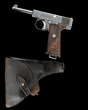WEBLEY & SCOTT LTD A RARE .38 (AUTOMATIC) SEMI-AUTOMATIC PISTOL, MODEL '1910 MILITARY TYPE III', serial no. 66384,