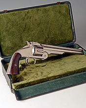 SMITH & WESSON, USA A RARE CASED .44 (HENRY RIMFIRE) SIX-SHOT SINGLE-ACTION REVOLVER, MODEL 'SECOND MODEL No3 AMERICAN', serial no...