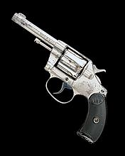 COLT, USA A .320 (SHORT COLT) NICKEL-PLATED SIX-SHOT DOUBLE-ACTION REVOLVER, MODEL 'NEW POCKET D.A. 32', serial no. 14989,