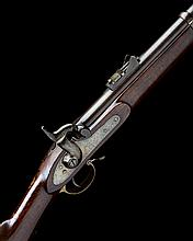 A .577 PERCUSSION SINGLE-SHOT SERVICE RIFLE, UNSIGNED, MODEL 'PATTERN 1853 THREE-BAND', no visible serial number,