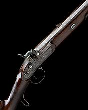 STAUDENMAYER, LONDON A FINE CASED 20-BORE PERCUSSION SINGLE-SHOT SPORTING RIFLE, serial no. 30,