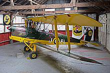 de HAVILLAND AIRCRAFT COMPANY A DH82A 'TIGER MOTH II' ex-R.A.F. AEROPLANE, CIVIL REGISTRATION G-AJTW,
