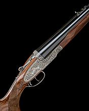 GRULLA ARMAS A LITTLE USED ABAIGAR-ENGRAVED .375 H&H MAG. 'MODEL E-95' SIDELOCK EJECTOR DOUBLE RIFLE, serial no. 001,
