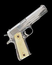 ** COLT, USA A .38 (SUPER) NICKEL-PLATED SEMI-AUTOMATIC PISTOL, MODEL 'SUPER .38 AUTOMATIC, serial no. 106966,