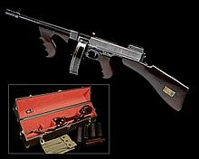** COLT, USA A RARE FBI CASED .45(ACP) FULLY-AUTOMATIC SUB-MACHINEGUN, MODEL 'THOMPSON M1921', serial no. 14650,