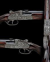 LUDWIG BOROVNIK A FINE, STOGNER-ENGRAVED  20-BORE (3IN.) / .22 HORNET SIDELOCK NON-EJECTOR COMBINATION GUN/RIFLE, serial no. 40.4988