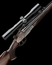 KARL HAUPTMANN A FINE 7X65R SIDELOCK EJECTOR DOUBLE RIFLE, serial no. 1870-71,