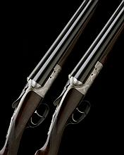 JOHN DICKSON & SON A PAIR OF 12-BORE 1887 PATENT 'ROUND ACTION' TRIGGERPLATE-ACTION EJECTORS, serial no. 7296 / 7,