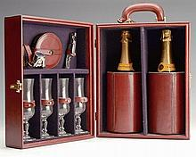 † RAY PAVON A CASED CHAMPAGNE SET,