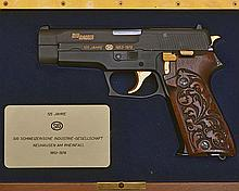 ** SIG-SAUER A CASED 9mm(PARA) SEMI-AUTOMATIC PISTOL, MODEL 'P220 '125 YEAR ANNIVERSARY 1853-1978'', serial no. JP1364,