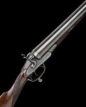 JOHN DICKSON & SON A FINE 10-BORE (2 5/8IN.) 1868 PATENT ROTARY-UNDERLEVER DOUBLE-BARRELLED HAMMERGUN, serial no. 3179,