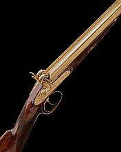 E.M. REILLY, LONDON A GILDED AND CASED 12-BORE PERCUSSION SPORTING-GUN FOR PRESENTATION, serial no. 12532,